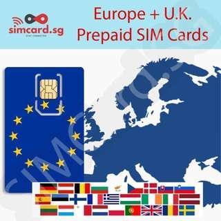 🚚 🇪🇺 Europe (European Union, UK, France, Germany, etc.) Prepaid SIM Card