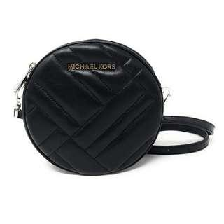🚚 MK Michael Kors Vivianne Canteen Crossbody Leather Sling Bag - Black