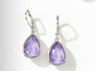 Swarovski Crystal lilac drop earrings Touchstone Crystal new and sparkling