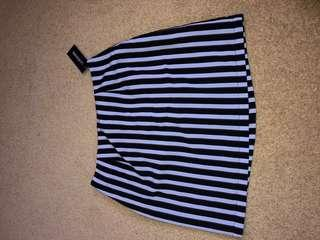 NEW glassons striped skirt