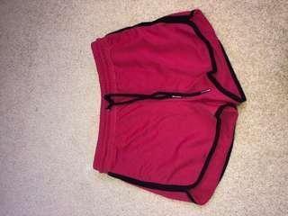 Red runner shorts