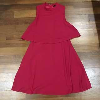 ZALORA red dress #FEBP55