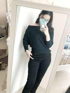 Sweater bikin kurus! Di jamin keliatan kurus! , lengan panjangan , sbanubelngan panjang , sabrina lengan panjang