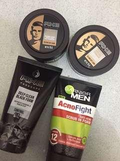 Paket Pomade Face Wash Axe & Garnier murah