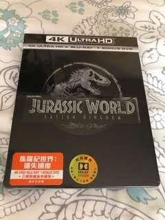 Jurassic world 侏羅紀世界 - 迷失國度 4k blu ray 藍光