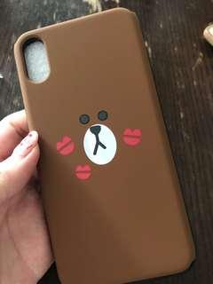 🚚 Line Brown Bear Iphone X casing