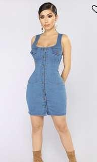 Fashion Nova denim dress