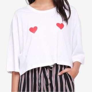 Heart Cropped Shirt ❤️
