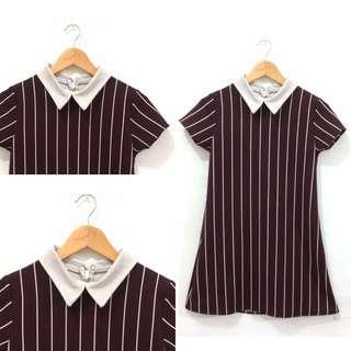 #Jumat80 Collar Dress Maroon
