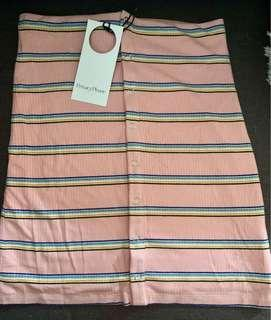 Cute fitted mini skirt (button up) (brand new with tags) (size XS)