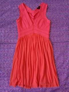 Topshop Dark Orange Stretchable Dress
