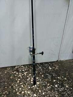 Rod,reel and froglure,( 6 feet)