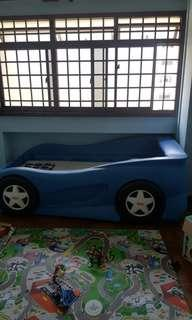 Blue racing car bed for Sale ( $280 )