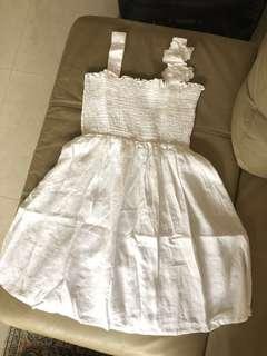 Sisley 全麻洋裝 純白