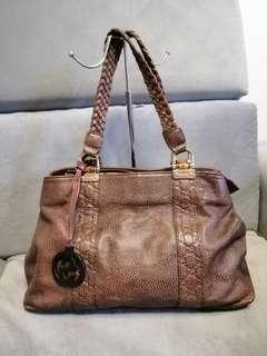 Gucci Brown Leather Bag!!! A STEAL!!!