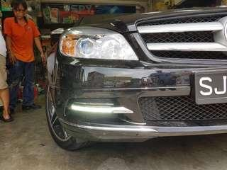 2007-11 W204 LED Daytime Running Lamps For Mercedes-Benz W204 Pre Facelift only.