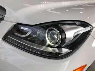 MERCEDES BENZ W204 C63 Design C-CLASS AMG CHROME LED DRL PROJECTOR HEADLIGHTS OEM.