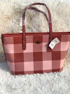 Coach Checkered Tote Bag