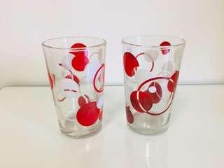 🚚 特價大拍賣!文青風普普風台灣懷舊早期玻璃杯老玻璃杯杯子2個一組120