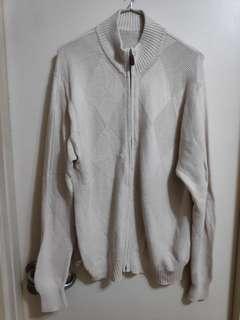 [清櫃] 淺米白色外套 配YKK拉鏈 szie : M 可議可換