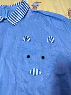 🚚 可愛藍色襯衫