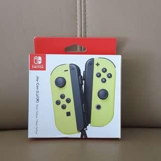 Nintendo switch joy con neon yellow Controller