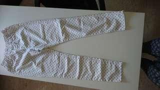 🚚 Polka dot white pants