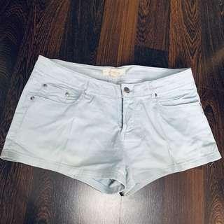 Mini Pants Vintage Baby Blue Forever 21- Celana pendek Vintage biru muda