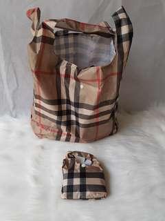 Burberry Reusable Waterproof stylish grocery shopping bag
