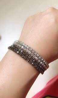 Black & white Crystal Bangles Bundle