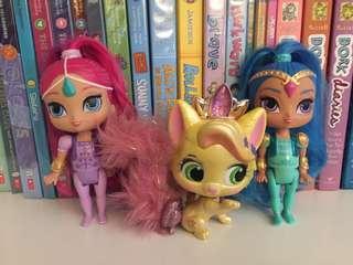 Shimmer and Shine dolls set of 3