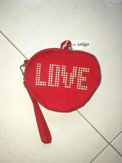 Smiggle heart shaped coin pouch