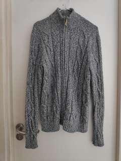 [清櫃] 灰色外套 配YKK拉鏈 szie : M 可議可換
