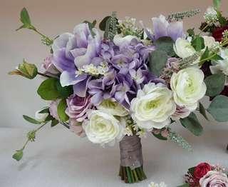 紫色絲花花球