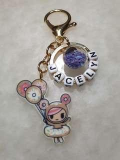 Donutella Keychain with customised name