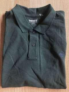 Timberland dark green olive army green Polo Shirt