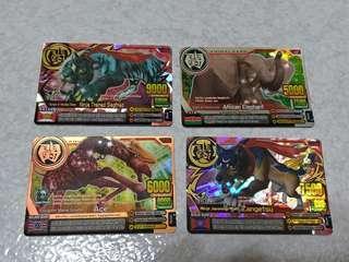 美版 百獸大戰 金銀銅卡 歸來的吉克(蒼天閃電) + 忍者狼月影究極卡 台卡可刷  收藏用