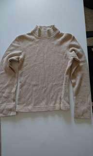🚚 M'phosis. Turtle Neck Sweater. Khaki/beige. Suitable for cool weather