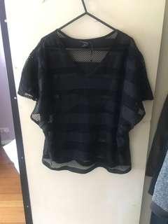Black net shirt