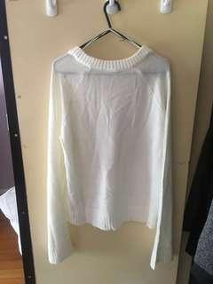 H&M white wool sweater