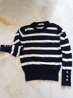 Zara Knit Navy Stripes
