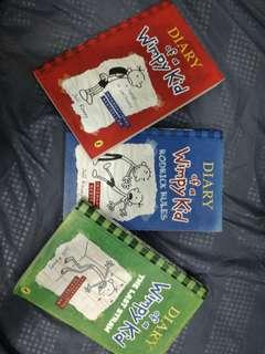 Diary of a wimpy kid. Book 1, 2, and 3