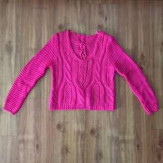 [Brand New] Pink Knitted Sweater