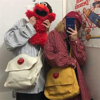 ✨(mcs) sesame street elmo cookie monster sling bag