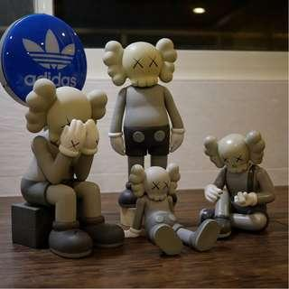 KAWS Grey Full Set Display