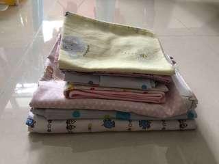 Playpen Mattress bedsheet, pillow n bolster