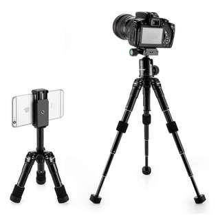 2175 ZOMEi Lightweight Compact Aluminum Alloy Mini Desktop Tabletop Tripod with 360 Degree Panoramic Ball Head and Quick Release Plate for Canon Nikon DSLR Cameras, etc, Black