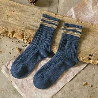 ulzzang stripe woolen socks