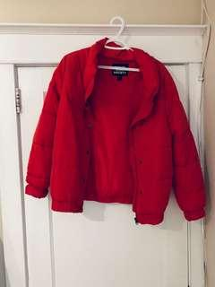 SWS red puffer jacket