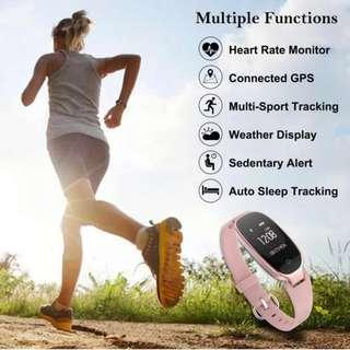 2150) Fitness Tracker, Women Sport Tracker Smart Watch Band Bracelet with Heart Rate Monitor, Calorie Counter, Waterproof Wristband Watch with Health Sleep Activity Tracker Pedometer for iOS Android